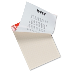 Chartwell Graph Pad 85gsm with Scale Area 280x190mm 1mm 5mm 10mm Grid 50 Sheets A4 Cream Wove Ref W14GZ