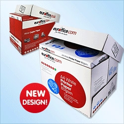 Euroffice A4 Printer Paper Ream-Wrapped 2500 Sheets 80gsm White Paper [Box of 5 Reams] - Item image