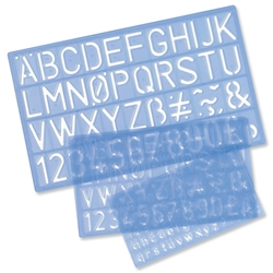 Stencil Pack of of Letters Numbers and /p Symbols 10mm 20mm 30mm