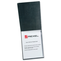 Rexel Nyrex Slimview Display Book 24 Pockets A3 Black Ref 10060
