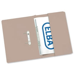 Elba Stratford Transfer Spring File Recycled Pocket 310gsm 32mm Foolscap Buff Ref 100090145 [Pack 25]