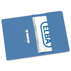 Elba Stratford Transfer Spring File Recycled Pocket 310gsm 32mm Foolscap Blue Ref 100090146 [Pack 25]