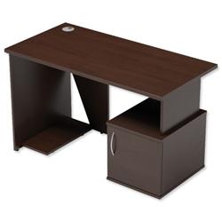 Sonix Ariel Home Work Desk with Cupboard - Euroffice