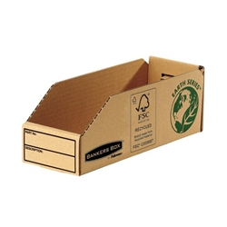 Bankers Box by Fellowes Earth Series Parts Bin Corrugated Board Packed Flat W98xD280xH102mm Ref 07353 [Pack 50]