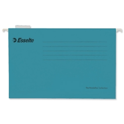 Esselte Pendaflex Suspension File Kraft V-Base 15mm Square 30mm A4 Blue Ref 90311 [Pack 25]