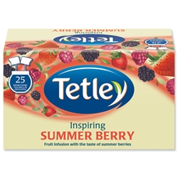 Tetley Tea Bags Summer Berry Individually Wrapped Ref 1291B [Pack 25]