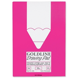 Goldline Standard Drawing Pad Cartridge Paper Acid-free 50pp 120gsm A4 Ref GPS3A4Z - Item image