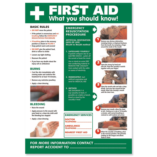 ... Aid+Poster ... posters http www grainger com grainger brady first aid