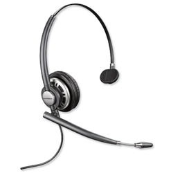 Plantronics EncorePro Headset Monaural Corded with Echo Control Wideband Audio for VOIP Ref 78712-02