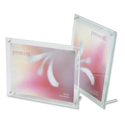 Deflecto Sign or Menu Display Holder Bevelled Edge Acrylic 102x152mm Clear Ref DE799493 - Item image