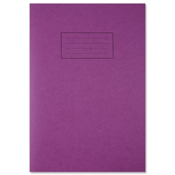 Silvine Exercise Book Ruled and Margin 80 Pages A4 Purple Ref EX111 [Pack 10]
