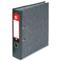 5 Star Lever Arch File 70mm spine width A4 Cloudy Grey [Packed 10]