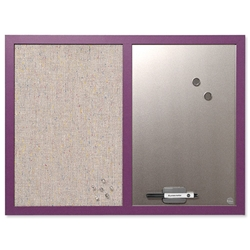 BiSilque Combination Notice and Magnetic Board W600xH450mm Lavender Ref MX04330418
