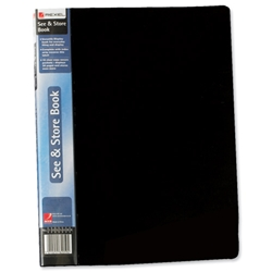 Rexel See and Store Book with Full-length Spine Ticket 20 Pockets A4 Black Ref 10555BK