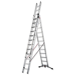 Combi Ladder 3 Section Capacity 150kg Rungs 3x12 for H9.25m 30.5kg