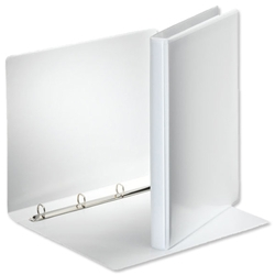Esselte Presentation Ring Binder Polypropylene 4 O-Ring 15mm A4 White Ref 49700 [Pack 10]