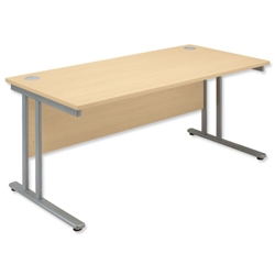 Sonix Style Desk Rectangular Panel W1400xD800xH720mm Maple Ref 33 - Item image