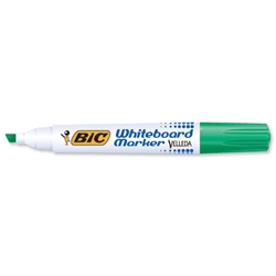 Bic Velleda 1751 Whiteboard Marker Chisel Tip Line Width 3.7-5.5mm Green Ref 1199175102 [Pack 12] - Item image