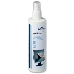 Durable Screenclean Pump Spray Alcohol Free Fluid 250ml Ref 5782