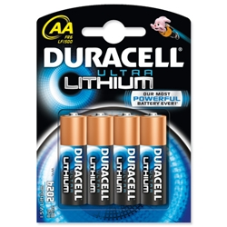 Duracell Ultra Battery Lithium LR06 1.5V AA Ref 81291959 [Pack 4] - Item image