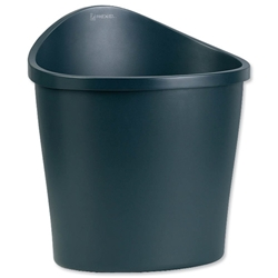 Rexel Agenda 2 Waste Bin Elliptical with Handle on Rear 18 Litres W413xD330xH457mm Charcoal Ref 2101034
