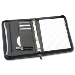 Conference Ring Binder Zipped Gussetted Capacity 25mm with Notepad A4