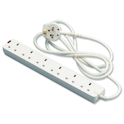 Eurosonic Extension Lead 6-Way 2m Ref ES054M2 - Item image