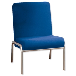 Trexus Plus Reception Chair Steel Frame Upholstered W560xD750xH820mm Blue - Item image