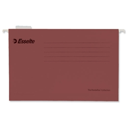 Esselte Pendaflex Suspension File Kraft V-Base 15mm Square 30mm Foolscap Red Ref 90336 [Pack 25]