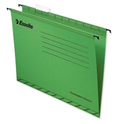 Esselte Pendaflex Suspension File Kraft V-Base 15mm Square 30mm Foolscap Green Ref 90337 [Pack 25]