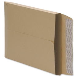 5 Star Envelopes Window Peel and Seal Gusset 25mm 241x165mm Manilla [Pack 125] - Item image