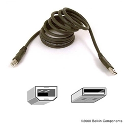 Belkin Cable USB 2.0 USBA-USBB (Charcoal), 4.8m - Item image