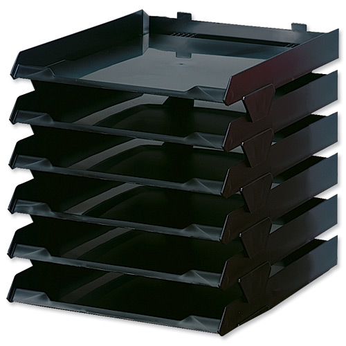 Avery Paperstack Letter Tray Self-stacking A4 W250xD320xH300mm Black