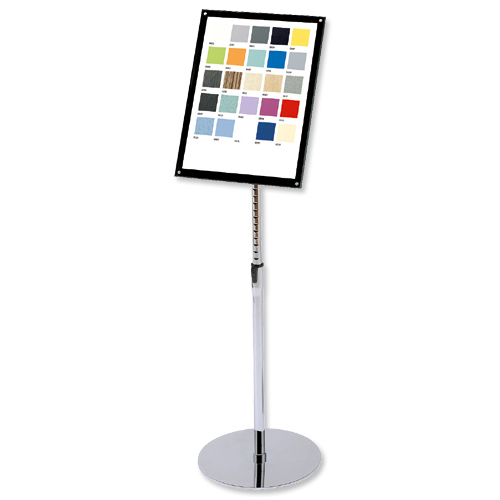 sign holder with bevel magnetic cover floor standing heavyweight a3 de790645 50079916022098. Black Bedroom Furniture Sets. Home Design Ideas