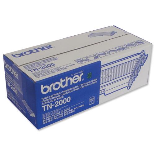 brother laser toner cartridge black ref tn2000 tn2000. Black Bedroom Furniture Sets. Home Design Ideas