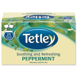 Tetley Peppermint Tea Bags [Pack 25]