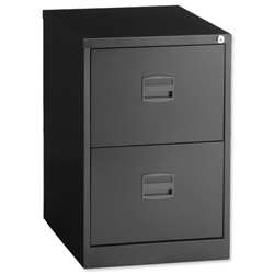 Trexus Filing Cabinet 2-Drawer Black